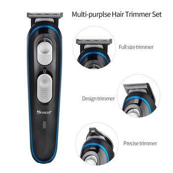3 in 1 Electric Hair Clipper Professional Hair Trimmer Rechargeable Beard Trimmer Hair Cutting Machine Trimer Men Haircut Kit PJ 3