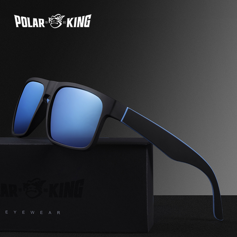 POLARKING Brand Men Fashion Polarized Sunglasses Men's Plastic Square Driving Eyewear Travel Sun Glasses Oculos De Sol