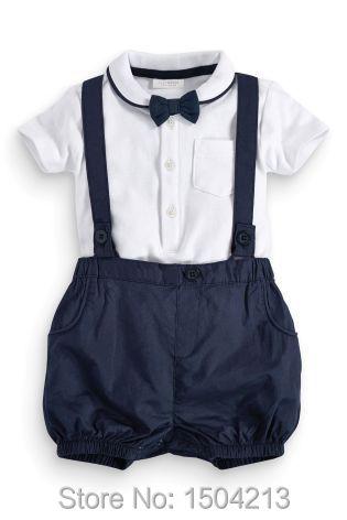 b72a97293 2016 arrival Baby Boy suit Gentleman Boy clothes sets baby romper ...