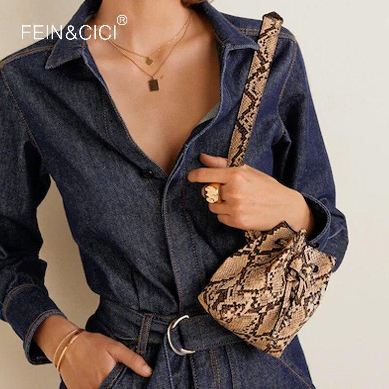 Bolso de la cintura fanny Pack cubo bolsa animal serpentina de cocodrilo de cuero de las mujeres marca 2018 de moda chic envío de la gota