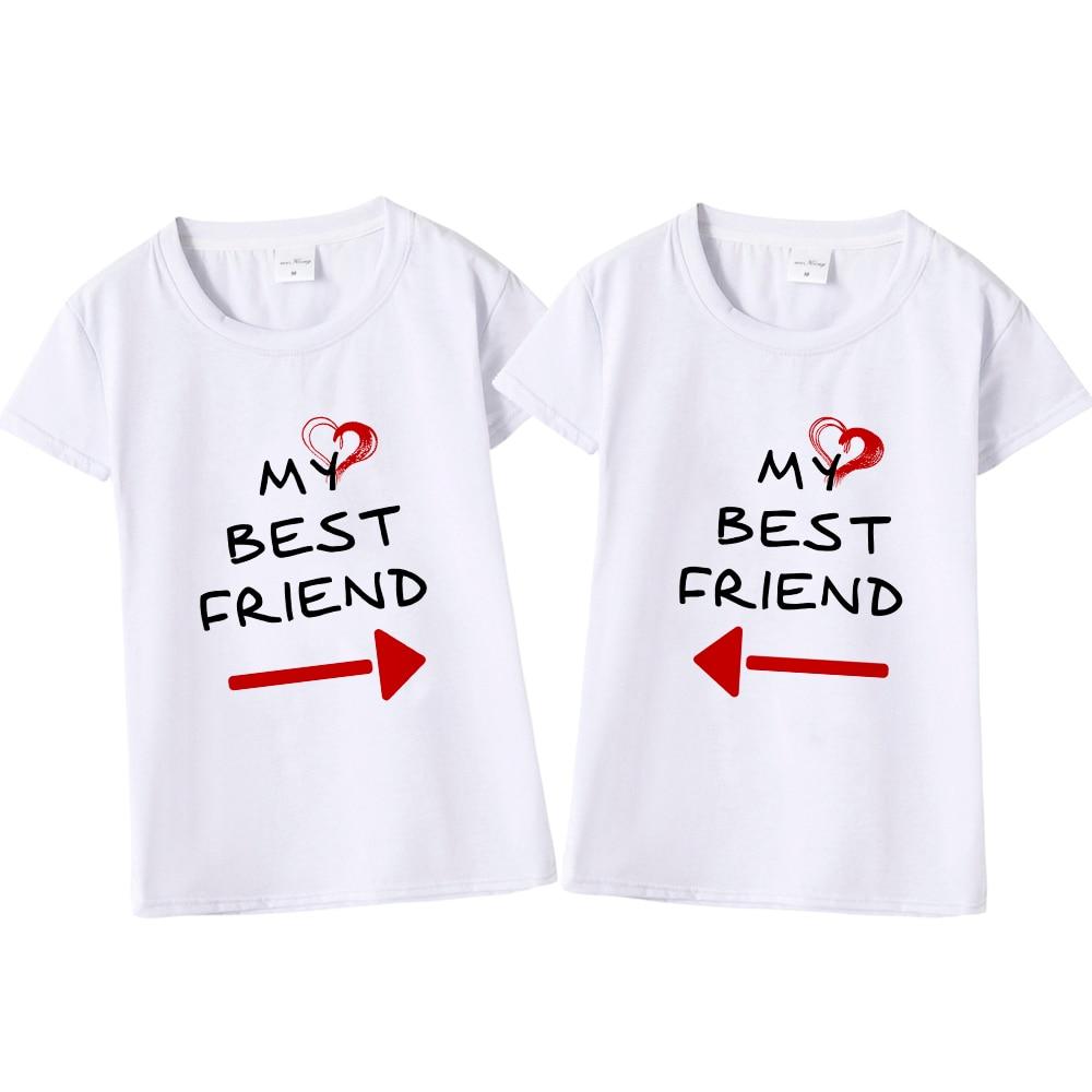 425e835d Women Cute Best Friend Matching Letter T-Shirt BFF T Shirt Women Lovers Tee  Shirt My Best Friend Printing Tshirt Femme Clothes