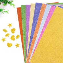 10 Sheets A4 Shiny Paper Glitter Craft Paper 10 Colors Gold Powder Paper Handmade Origami Crafts Kids DIY Card Decoration