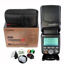 Yongnuo YN686EX RT 2000mAh แบตเตอรี่ Li Ion SPEEDLITE GN60 2.4G แบบไร้สาย HSS 1/8000 S TTL/M/MULTI Flash Light YN686 สำหรับ Canon DSLR
