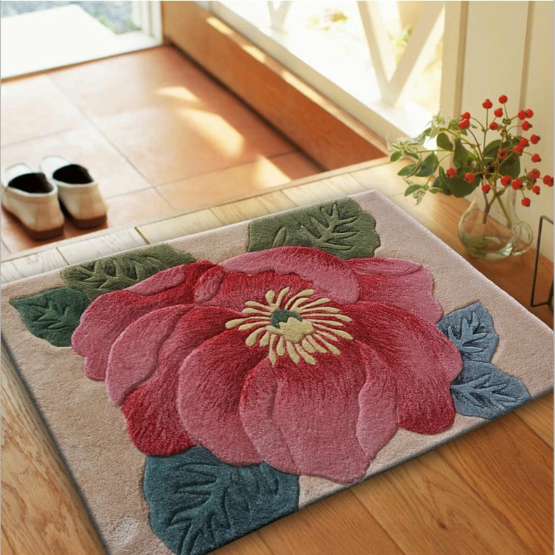 Laine carepts tapis européens chevet sculpté tapis pour couloir chambre salon allée paillasson Logo marque 100% laine tapis