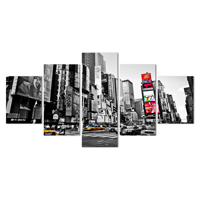 2016 Hot Sales Without Frame 5 Panels Picture New York City HD ...