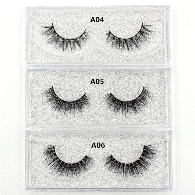 AMAOLASH Eyelashes 3D Mink Lashes Long Lasting Volume Dramatic Eyelashes Makeup Eyelash Extension Natural False Eyelashes 3