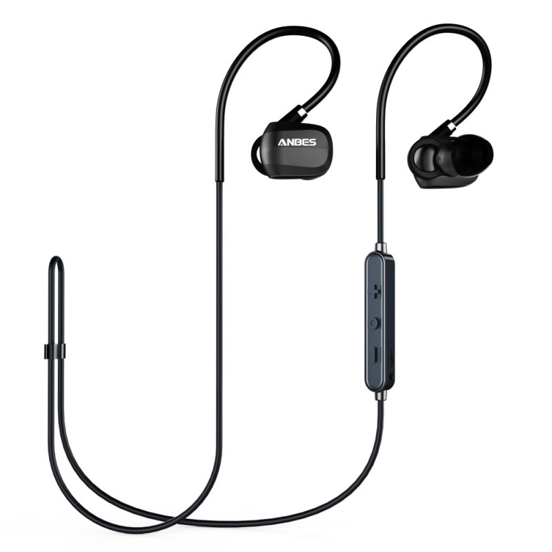 Bluetooth Headphones 4.1 Wireless Bluetooth Sport Stereo Earpiece Noise Cancelling Sweatproof Headset with Memory Metal Earphone a01 bluetooth headset v4 1 wireless headphones noise cancelling with mic handsfree earpiece for driving ios android