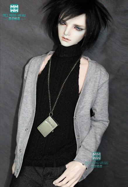 BJD búp bê quần áo phù hợp với BJD chú thời trang casual knit cardigan + áo sơ mi kẻ sọc T-Shirt