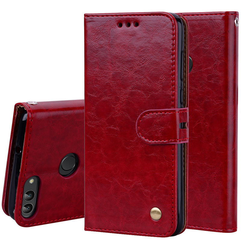 Leather Wallet Case For Huawei <font><b>P</b></font> <font><b>Smart</b></font> 2018 FIG-LX1 L21 Flip Case On For Huawei <font><b>P</b></font> <font><b>Smart</b></font> 2019 POT-LX3 LX1 Soft Silicone Cover image