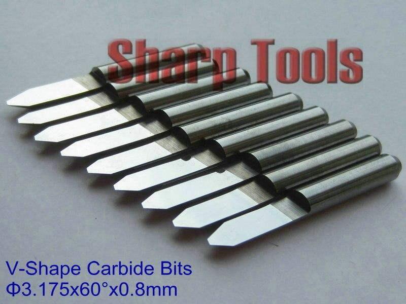 5x Carbide PCB Engraving CNC Bit Router 20 Deg 0.8mm