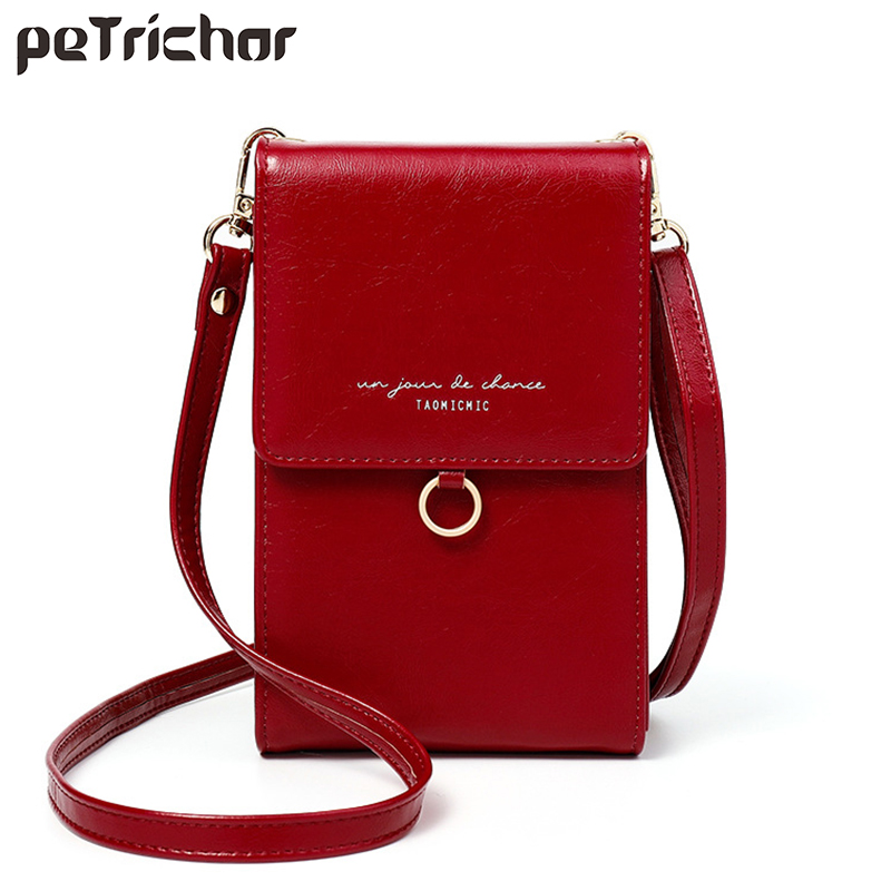 Luxury Women Phone Messenger Bag Leather Mini Summer Shoulder Bags Ladies Coin Purses Crossbody Bag Fashion Brand Female Wallets
