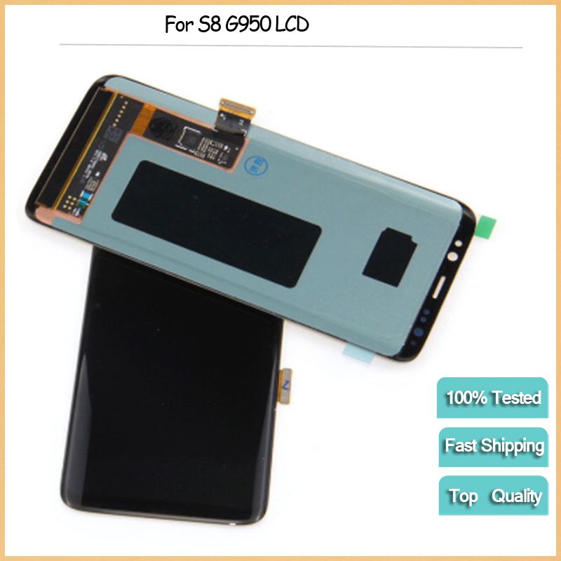 For SAMSUNG Galaxy S8 LCD Display G950 G950F LCD Display Touch Screen Digitizer Replacement For Galaxy S8 display for S8 lcd new