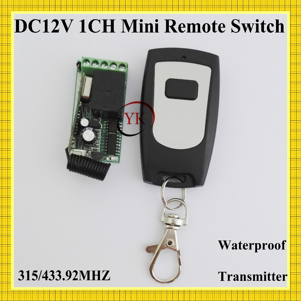 DC 12V 1 CH Way Relay Switch NO COM NC Contact RF Receiver Transmitter Waterproof 315/433.92MHZ Lock Door Access Wireless Switch dc 3 5v 12v mini relay switch receiver 7 transmitter lock unlock