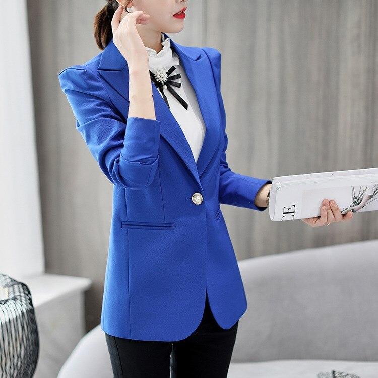 Autumn Spring Women's Blazer Elegant Lady Blazers Suits Coat Plus Size Women's Jacket Suit