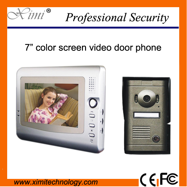7 inch TFT color screen video door phone night version video doorbell V7C-P exported quality screen printing frame 7 5x10 inch 19x25cm wholesale price door to door