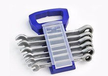 6 pieces of 8-17mm fast ratchet dual purpose wrench set / sub light crv72 gear wheel (8mm/10mm/12mm/13mm/14mm/17mm)