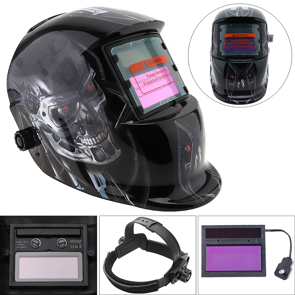 Welding Tools Stepless Adjust Solar Auto Darkening TIG MIG Grinding Welding Helmets / Face Mask / Electric Welding Mask polished chrome arc tig mig mask grinding face welder welding equipment helmet for free post