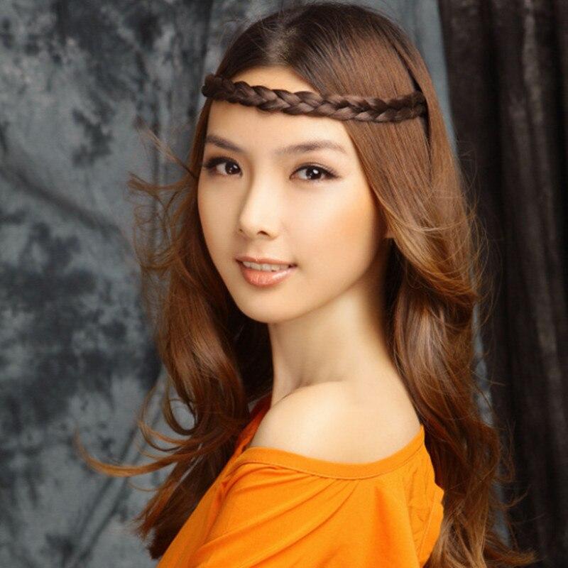 1cm Width Wig Braid Elastic Headband Synthetic Hair