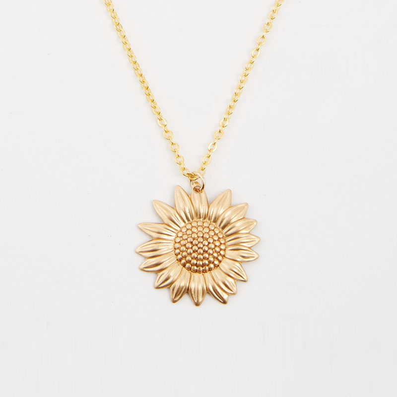 97830f4568330 Top ++99 cheap products gold sunflower pendant in ROMO