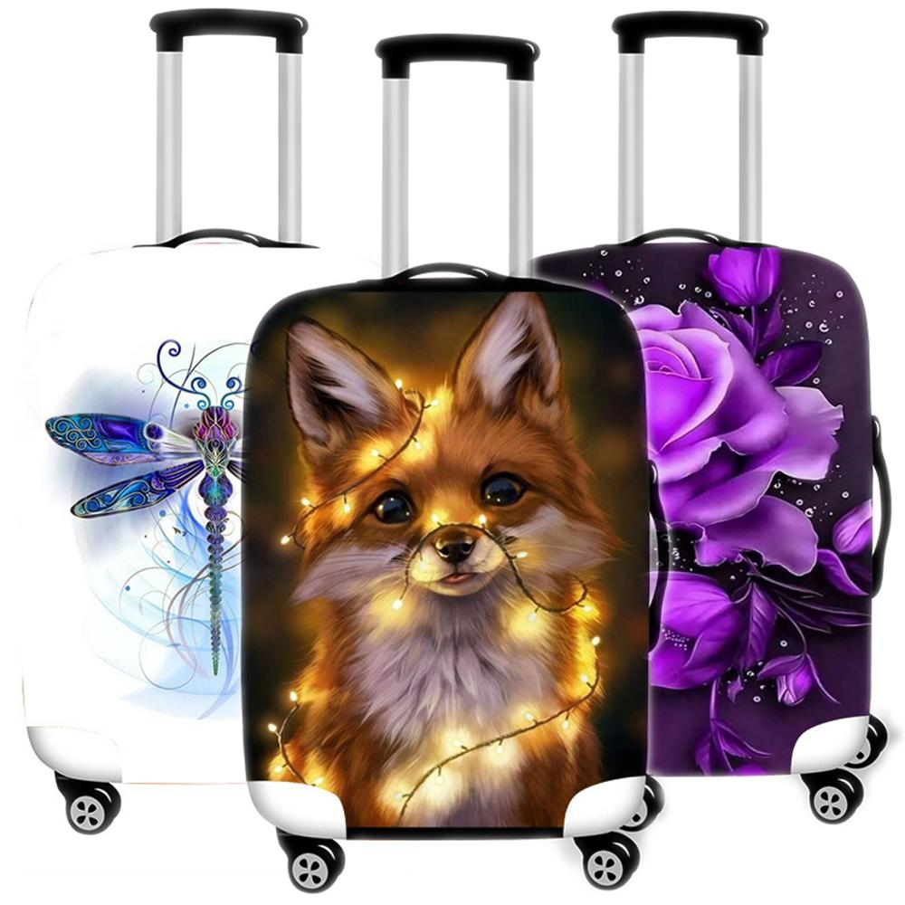 Animal Printing Suitcase Case Protective Cover Travel Luggage Thicken Dust Cover Accessories Suitcases Organizer 18 To 32 Inches