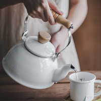 2 L water kettles ceramic teapot Enamel kettle can be used on electromagnetic oven or natural gas