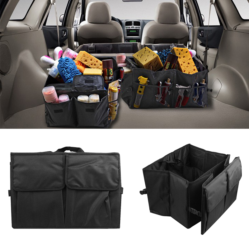 2019 Portable Foldable Multi-Pocket Trunk Cargo Storage Pouch Tidy Organizer Car SUV Universal Practical Interior Accessories(China)