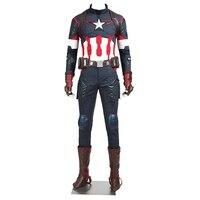 De Avengers Leeftijd van Ultron Captain America Kostuum Steve Rogers Halloween Outfit Volwassen Superheld Mannen Custom Made Kostuum
