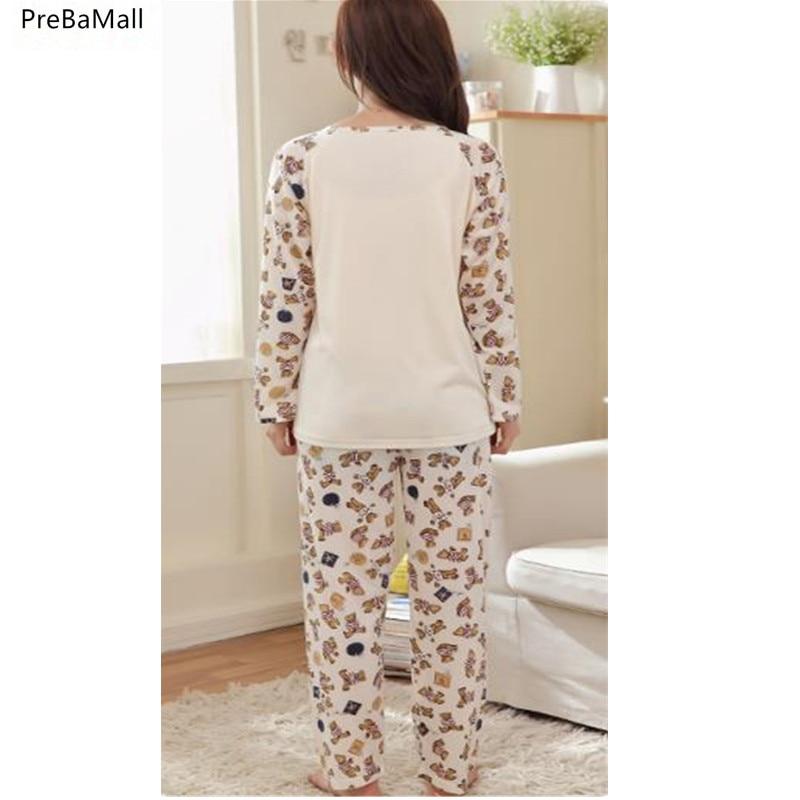 296372ccd Pijama de lactancia Embarazo Pijamas Ropa para alimentarse en camisón de invierno  Embarazo Pijama Amamantar Ropa de maternidad B0455. SIZE  D7  D8  ...