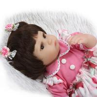New silicone reborn baby doll toy for girls