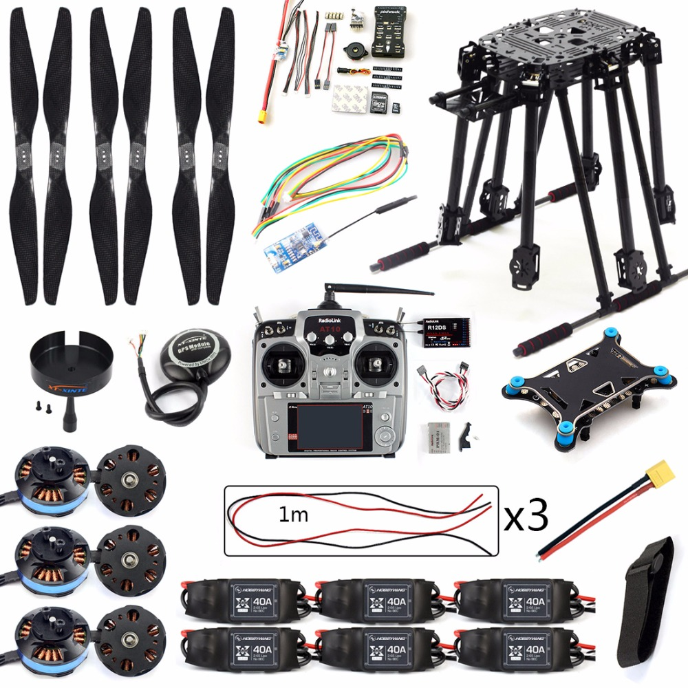 все цены на DIY Set PIX4 Flight Control ZD850 Frame Kit M8N GPS Remote Control Radio Telemetry ESC Motor Props for RC 6-Axle Drone F19833-D онлайн