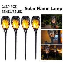 33/51/72LED Control Solar Flame Light Outdoor Waterproof Garden Landscape Lawn Lamp Path Lighting Lights Newst