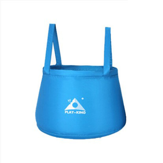 PLAYKING voyage en plein air pliable pliant Camping lavabo seau bol étanche PEVA sac de lavage en Nylon randonnée seau à eau