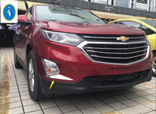 Accessories ! For Chevrolet Equinox 2017 2018 ABS Front Fog Light Lamp Eyelid Cover Kit Trim 2 Pcs / Set