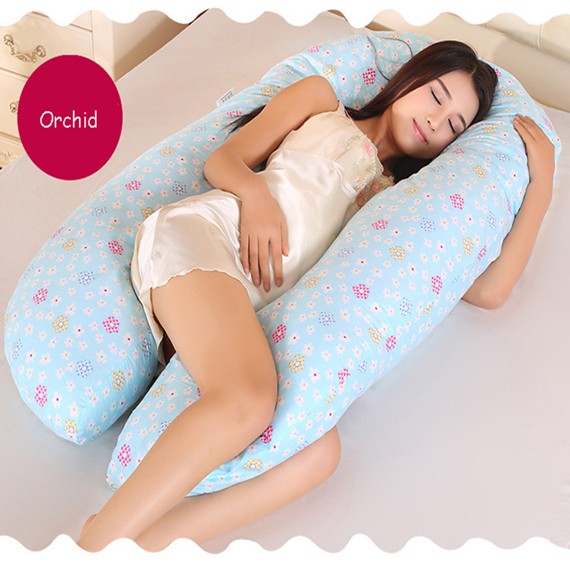 Pregnant Women Sleeping Support Pillow Soft 100% Cotton U-shaped Comfortable Cover Side SleepersPregnant Women Sleeping Support Pillow Soft 100% Cotton U-shaped Comfortable Cover Side Sleepers