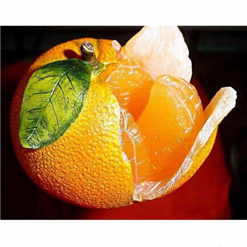 ٩(^‿^)۶Patrones de frutas 3D cuadrado diamante pintura para la casa ...
