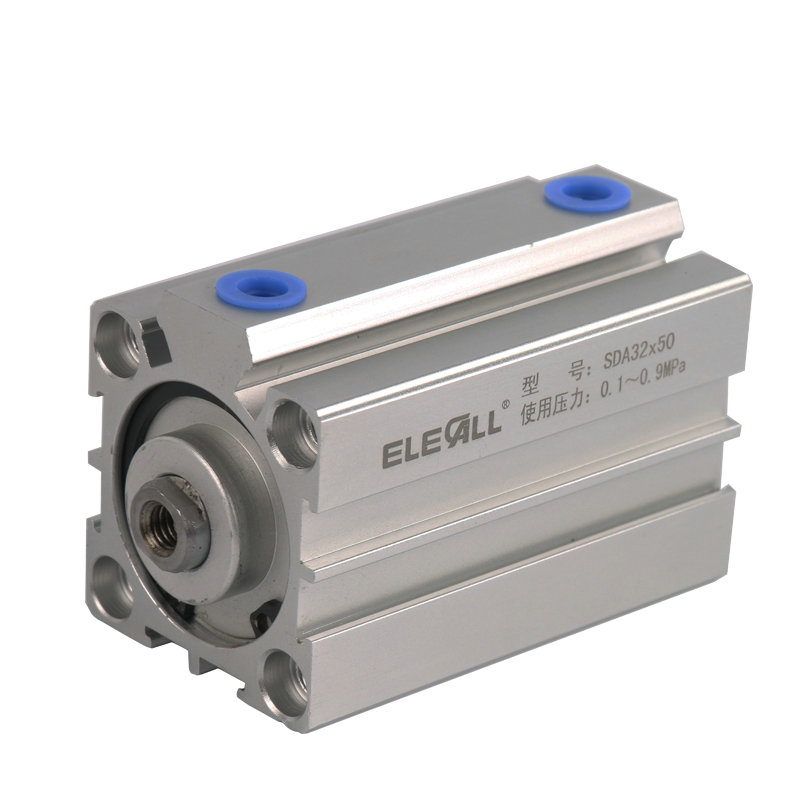 Compact Air Cylinders Double Acting Pneumatic Air Cylinder Sda32*25 / 32mm Bore 25mm Stroke