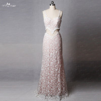 RSW1370 Yiaibridal Real Job Photos Champagne Lining Seperate Two Pieces Crop Top Lace Wedding Dresses