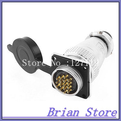 AC 400V 12A 16Pin Electric Deck Aviation Connector Adapter Plug  цены
