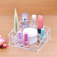 New Clear Makeup Jewelry Cosmetic Storage Display Box Acrylic Case Stand Rack Holder Organizer Wholesale