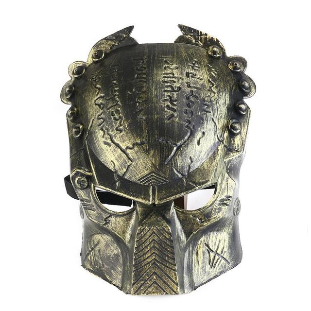 cool lifelike alien soldier shaped hockey cosplay costume halloween killer masquerade ball mask scary mask anonymou - Cool Masks For Halloween