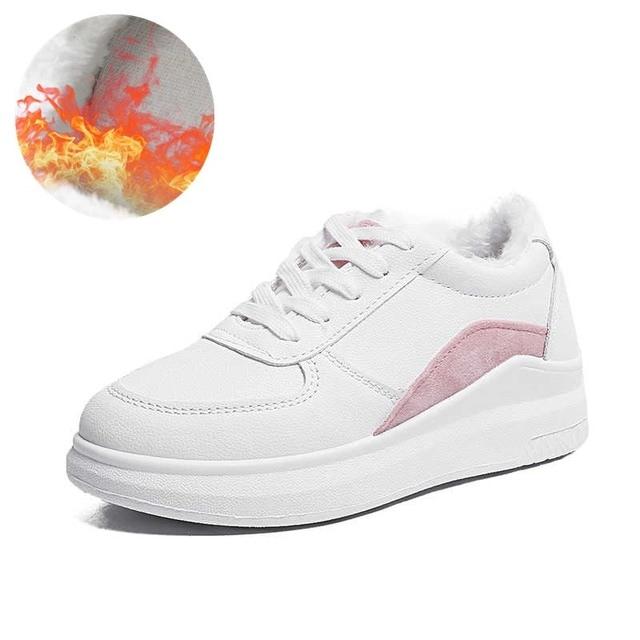acaa32f7f 2018 Весенние новые дизайнерские белые туфли на танкетке женские кроссовки  на платформе женские tenis feminino повседневные