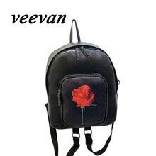 Veevanv весна 2016 горячий новый уникальный дизайн отдыха рюкзак Корейский Институт ветер роза Harajuku Студент Рюкзак