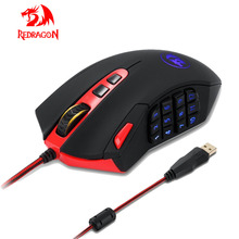 Professional 16400DPI Adjustable USB Wired Optical Gaming Mouse 18 Programmable Buttons for Computer Laptop PC