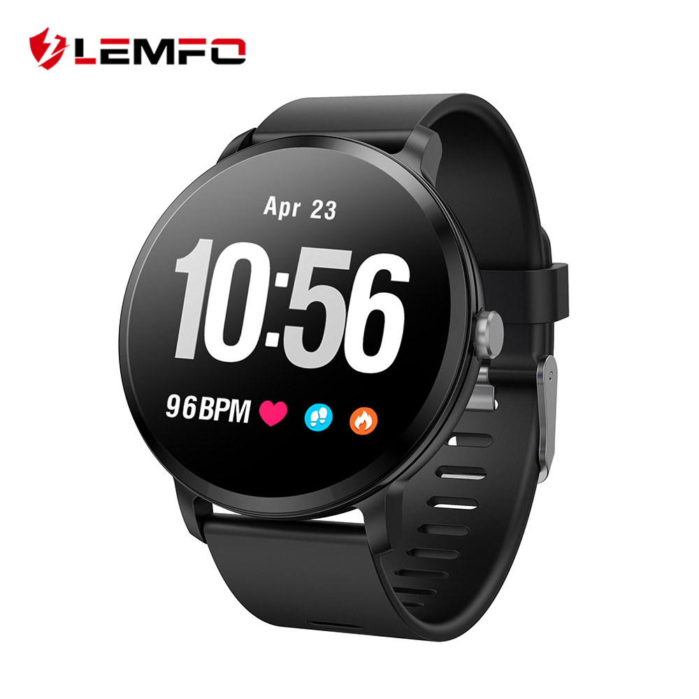 LEMFO V11 Smart Watch 1.3 Inch 240*240 Tempered Glass Screen IP67 Waterproof Heart Rate Monitoring Blood Pressure For Men Women colmi v11 smart watch ip67 waterproof tempered glass activity fitness tracker heart rate monitor brim men women smartwatch