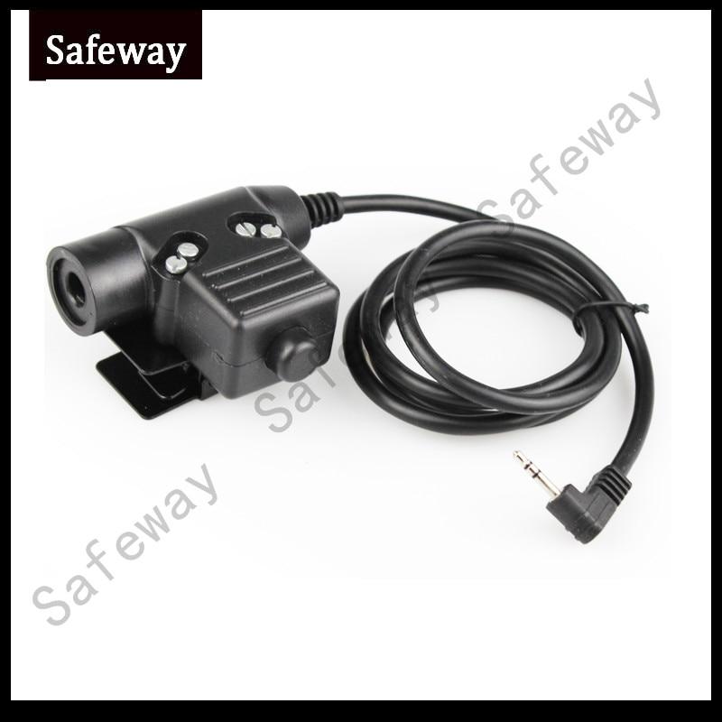 U94 PTT Cable Plug For Motorola T6200 Z Tactical Bowman Elite II HD01 HD03 Radio Headset Earpiece PPT