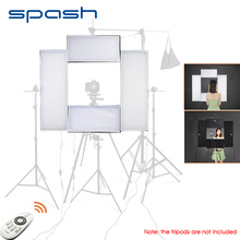 Spash 4で1 ledスタジオライトledライトパネルビデオvlogカメラyoutube撮影調光対応5500 18k CRI95ワイヤレスリモコン