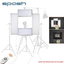 Spash 4 in 1 LED 스튜디오 라이트 비디오 Vlog 카메라 용 led 라이트 패널 Youtube Shoot Dimmable 5500K CRI95 무선 원격 제어