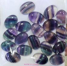 Atacado natural arco íris fluorite 10x12mm 10x14mm 12x16mm 15x20mm oval gem pedra cabochão anel rosto cab 20 peças/lote
