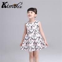 Kimocat High Quality The Summer Girl Vestidos Cartoon Princess Dance Pattern Printing Temperament Dress