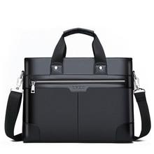 цены Men PU Leather Shoulder Fashion Handbags Business Bags Black Bag Men for Document Male Briefcases Leather Laptop Briefcases Bag